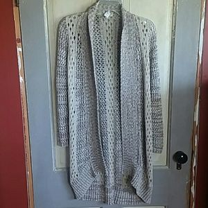 Chico's Open Knit Cardigan High Low